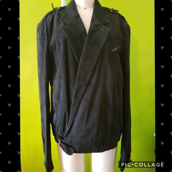 80s Bally of Switzerland Suede Wrap Jacket